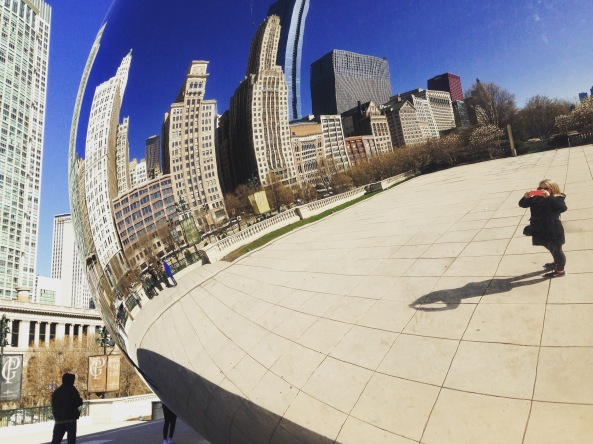 At the bean in Chicago.